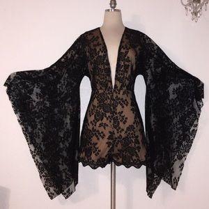Gorgeous! Black Lace Romper